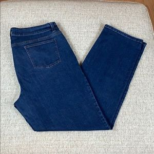 Eileen Fisher Organic Cotton Straight Leg Jeans 16